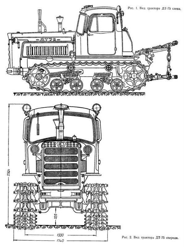 Схема гусениц на дт-75